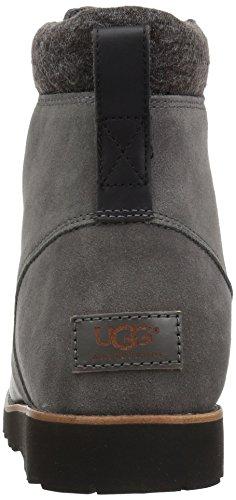 Ugg Australia Halfdan Mens Stivali Stivali Nero-grigio Taglia 45,5