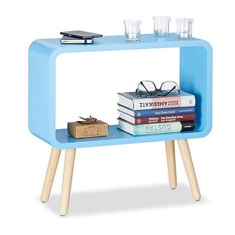 Amazon.com: Relaxdays – pequeño estantería no empotrado ...