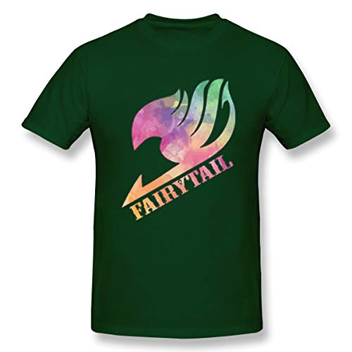 (VJJ AIDEAR Fairy Tail 100% Organic Cotton Short Sleeve T Shirt for Mens Forest Green 33)