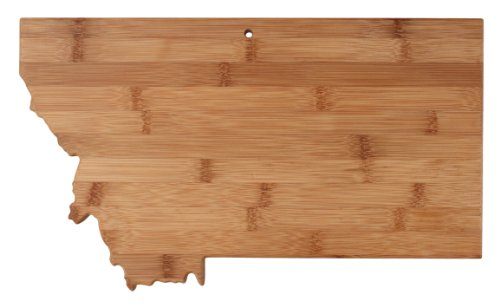 "Totally Bamboo State Cutting & Serving Board – ""MONTANA"", 100% Organic Bamboo Cutting Board for Cooking, Entertaining, Décor and Gifts. Designed in the USA!"