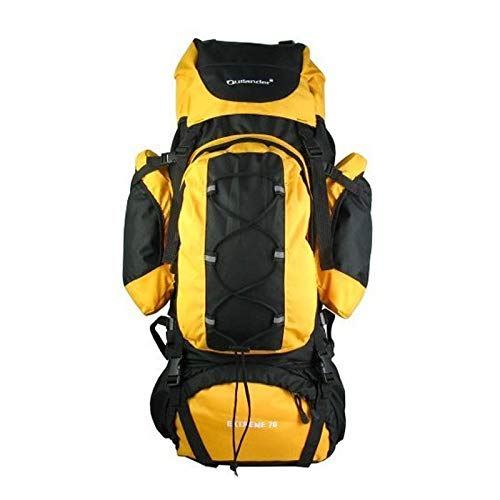 YOZOOE 70L Professional Travel Hiking Backpack,Boarding Backpack Outdoor Sports Camping Bag Mountaineering Bag Large Capacity (Capacity : 70L, Color : Yellow) by YOZOOE