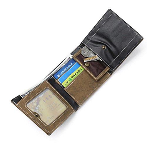 Toamen Hombres Monedero PequeñO De DiseñO Portatarjetas Rfid Mini Carteras De Cuero Delgadas (Gris): Amazon.es: Ropa y accesorios