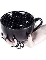 Large Coffee Mug in Gift Box By Rogue + Wolf Cute Mugs For Women Cute Mugs For Women Unique Spooky Witch Gifts Novelty Tea Cup Goth Decor - 17.6oz 500ml Porcelain
