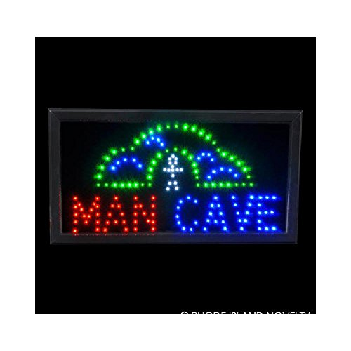 10''X9'' Light-Up ''Man Cave'' Sign by Bargain World