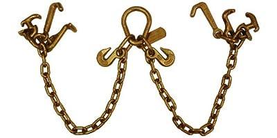 5/16''x6' Tow Chain R T J Cluster Hooks Pear Link Grab Hooks
