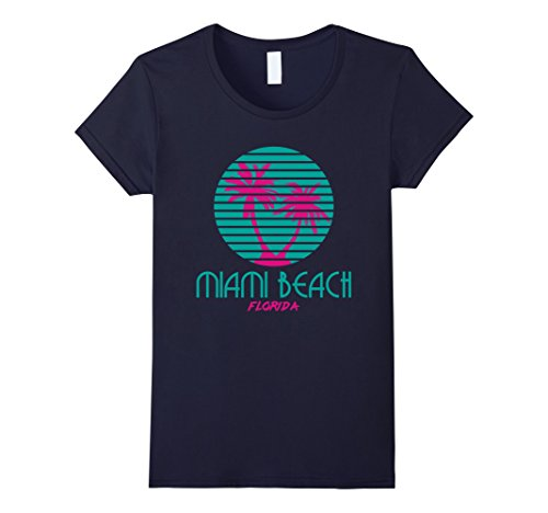 Women's Miami Beach Florida Souvenirs T Shirt Medium - Of Women Beach Miami