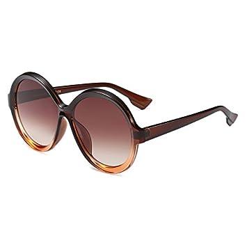 8afc3cfe8d Burenqi   Big Frame Round Sunglasses Women Gradient Frame Luxury Brand Men  Sun Glasses Ladies