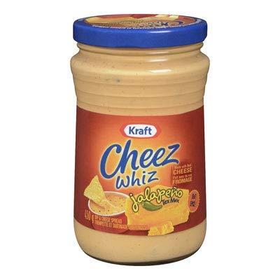 Kraft Jalapeno Tex Mex Cheez Whiz, 450g/15.9oz, Imported from Canada} by Kraft