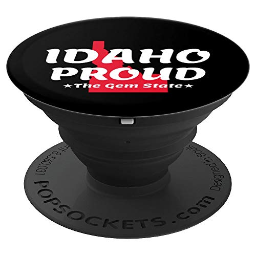 - Idaho Proud State Motto The Gem State PopSockets Grip and Stand for Phones and Tablets