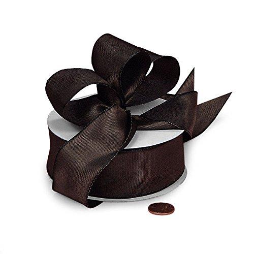 (Brown and Black Two Tone Grosgrain Ribbon 1 1/2