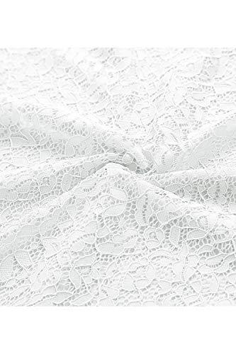 Manica Vestito Bianco Cerimonia Pizzo Matrimonio In Cocktail Donna Bbonlinedress Elegante Senza N0Omn8vwPy