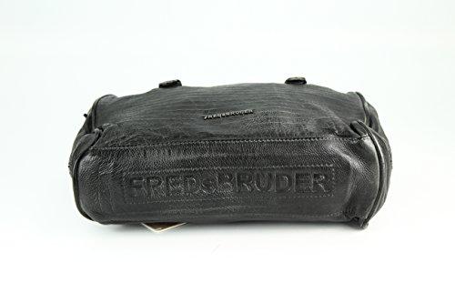FREDsBRUDER - Bolso al hombro para mujer gris gris oscuro negro