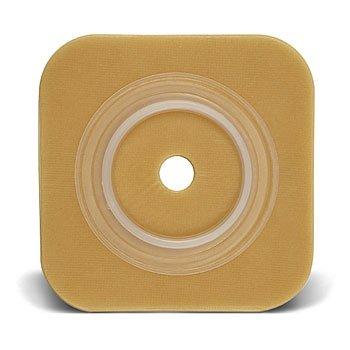 Convatec 401905 Sur-Fit Natura Two-Piece Durahesive Skin Barrier - 6'' x 6'' - 4'' Flange - 5/BX