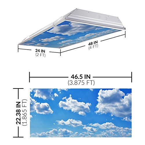 Fluorescent Light Covers Amazon: Cloud 001 Fluorescent Light Filters 2'x4'