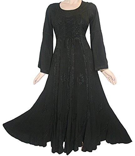 long black medieval dress - 6