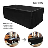 GEMITTO 7/8/9 ft Pool Table Cover, Heavy Duty Waterproof Billiard Cover Polyester Fabric for Snooker Billiard Table (102x53x32in)