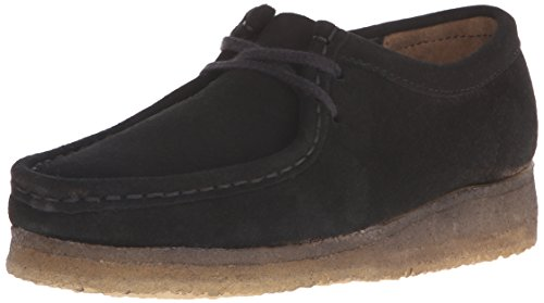 Clarks Women's Wallabee Boot, Black, 8 M US (Clark Kids Shoes)