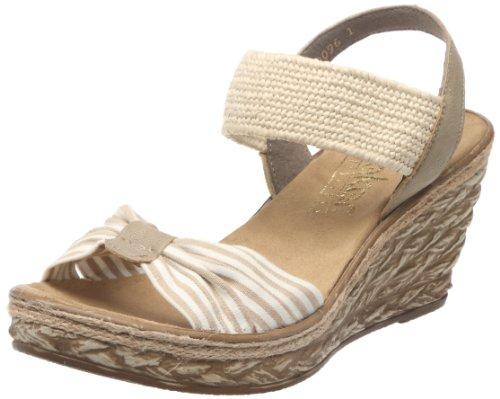 Rieker 69472 69472 - Sandalias de vestir para mujer Beige