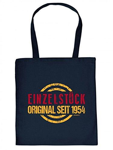 Bedruckte Stofftasche - Einzestück seit 1954 - Geburtstag Geschenk - Tasche Baumwolltasche Beutel Tragetasche T065HyG