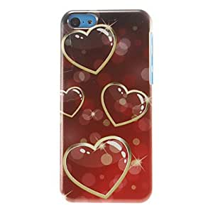 QJM Shining Heart-shapes Pattern Hard Case for iPhone 5C