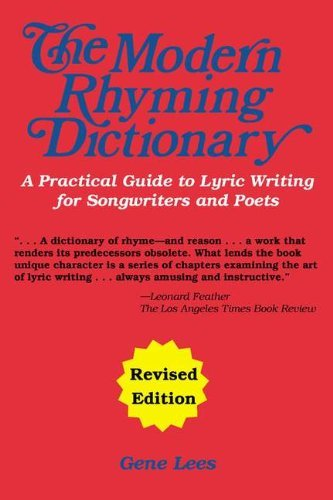 By Gene Lees The Modern Rhyming Dictionary Edition (Revised) [Paperback] - Modern Rhyming Dictionary