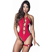 Body Vermelho Sexy com Persex Hot Girl - GV378