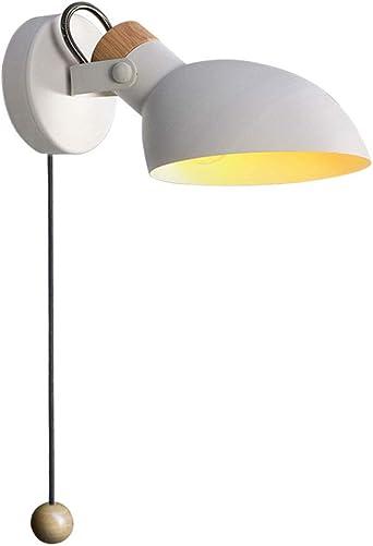 WRMING Lámpara de Pared con Interruptor, Aplique de Pared Metal Moderna Cabecera Ajustable Luz de Lectura para Salon Dormitorio Sala Pasillo Escalera, E14,Blanco: Amazon.es: Iluminación