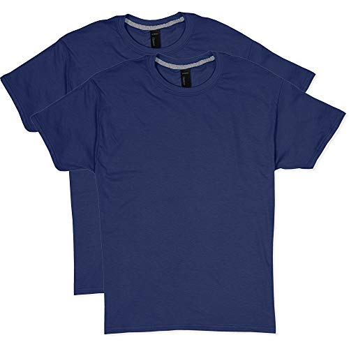 Hanes Men's 2 Pack X-Temp Performance T-Shirt, Navy, Medium