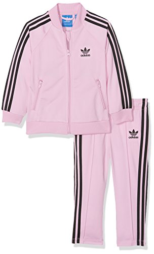 adidas Tracksuit - Infant Superstar pink black size  74 cm tall - 6 to 9  months  Amazon.co.uk  Clothing e8b1fcaaa295