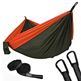 SONGMICS Ultra-Lightweight Portable Hammock Hold up to 660LB Single Double Parachute Nylon Camping