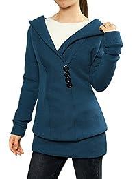 Allegra K Woman Shawl Collar Hooded Sweater