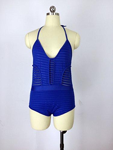Yidarton Trajes De Baño De Las Mujeres Bañadores Deportivas Acolchado Bikini Swimwear Azul