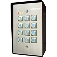 SECO-LARM SK-1123-SQ SURFMT INDOOR/OUTDOOR ILLUMINATED KEYPAD 12/24VDC