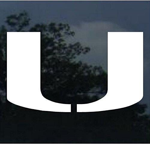 Miami Hurricanes 18'' x 18'' White Logo Decal ()