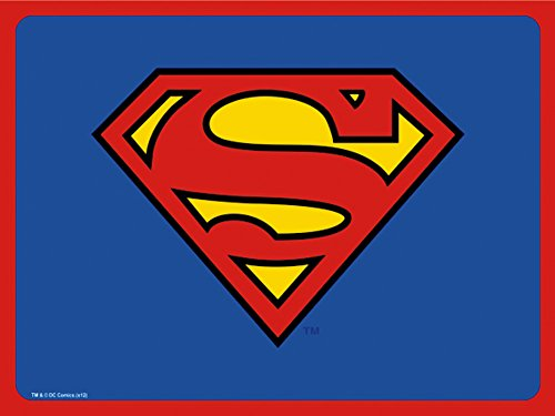 Superman DC Comics Superhero Classic Shield Logo Dog Cat Pet Place Mat -