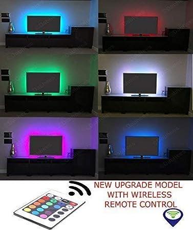 Multicolor RGB 50cm 50cm USB LED Luz De Tira LED TV Fondo Kit De Iluminación Con USB Cable 30 PC SMD 5050: Amazon.es: Bricolaje y herramientas