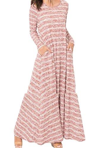 Coolred-femmes Imprimées Élégant En Forme De Grandes Poches Ourlet Robe De Soirée Comme Image