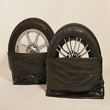 100 Reifentüten Schwarz 40µ 100 X 100 Cm Bis 22 Zoll Xxl Reifensack Reifentaschen Extrastark Reifenschutz Kein Schrott Auto