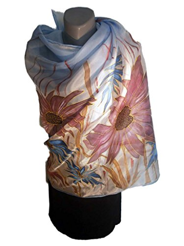 PARIS Hand Painted Silk Scarf by Donanobile