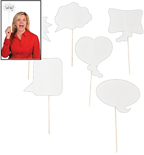 Speech Bubble (Dry Erase Photo Booth Props - 1 Dozen)