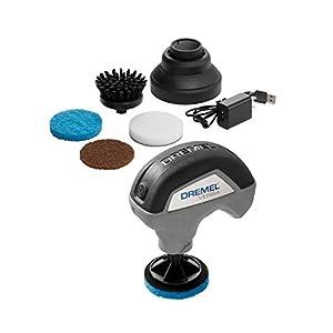 Best Epic Trends 416C5wyfPEL._SS300_ Dremel Versa Cleaning Tool- Grout Brush- Bathroom Shower Scrub- Kitchen & Bathtub Cleaner- Power Scrubber for Tile, Pans…