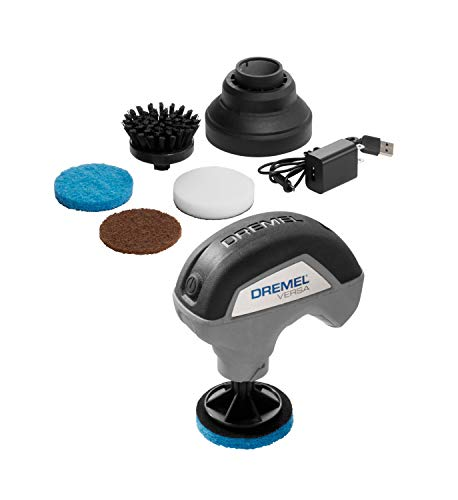 Dremel Versa Cleaning Tool- Grout Brush- Bathroom Shower Scrub- Kitchen & Bathtub Cleaner- Power Scrubber for Tile, Pans…