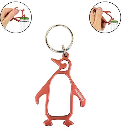 Munkees Penguin Bottle Opener Keychains, Mini Ocean & Water Animal Key Rings, Small Pocket-Sized Sea Creature Opens Beer, Cans & Bottlecaps]()