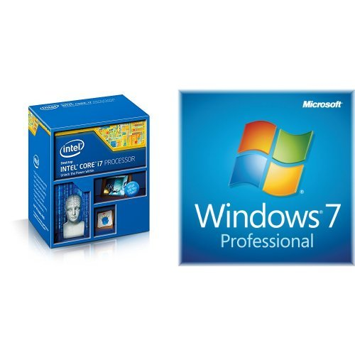 Bundle: Intel Core i7-4790K Processor & Windows 7 Professional SP1 64bit (OEM)