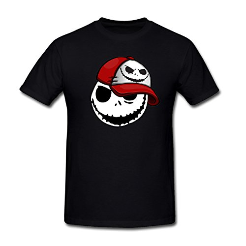 Drong Men's Cool Jack in Hat Image the Nightmare Before Christmas T-Shirt XXL Black