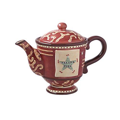 - Pfaltzgraff Holiday Spice Sculpted Teapot