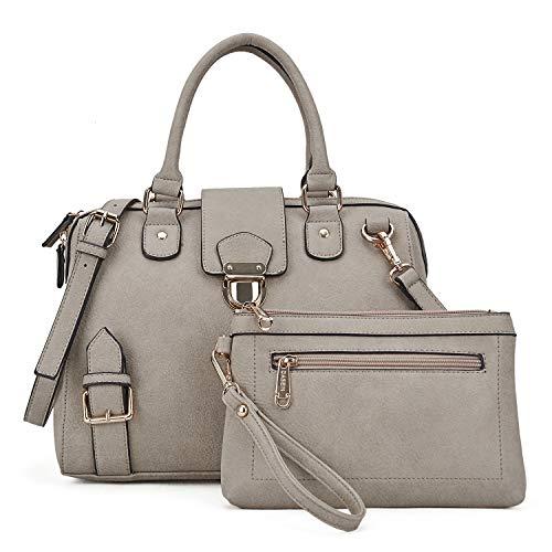 (Handbags for Women Top Handle Shoulder Bags Satchel Tote 2 Pcs Purse Wallet Set Boston Bags(XL-07-6901-C-TP))