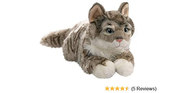 Amazon.com: Cat Lying Grey Tabby, 14 inches, 35cm, Plush Toy, Soft Toy, Stuffed Animal 1614002: Toys & Games