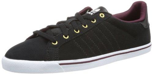 adidas Court Star Slim G95607 Damen Sneaker Schwarz (Black/Light Maroon/Black)