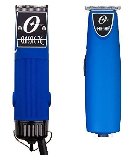 Combo Limited Edition Oster 76 and T Finisher Blue Soft Touch Clipper and Trimmer.